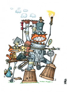 "STEAMPUNK KOBOLDS - The Difference Engine…er…""Garbage Can""..."