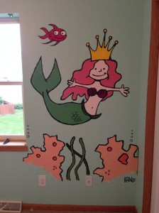 She's got no troubles. Life is de bubbles. Under the sea!