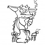 J.R.R. Trolkin - a sample Munchkin legends piece of original art that YOU COULD OWN!