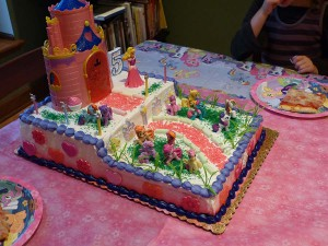 2013's Princess/Pony cake. ALL THE PINK! ALL!