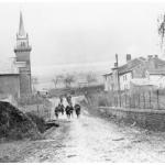Men of the 16th Infantry rush into Thelonne under shellfire during the advance on Sedan, 7 November 1918.